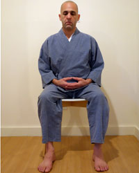 seated meditation position